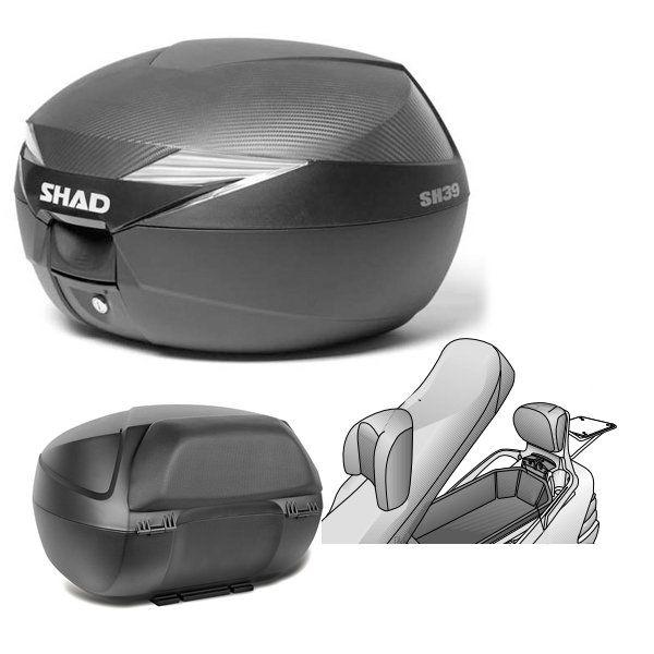 Baul Shad SH39 Burgman 2001-09 con respaldo