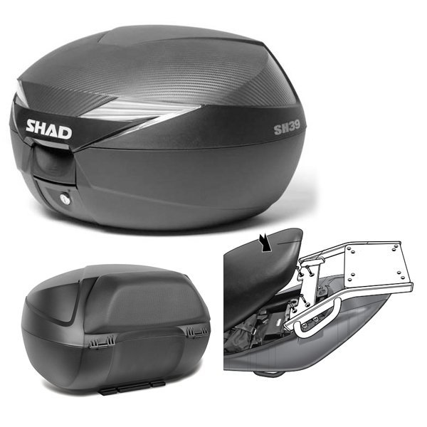 Baul Shad SH39 Suzuki Inazuma 250 con respaldo