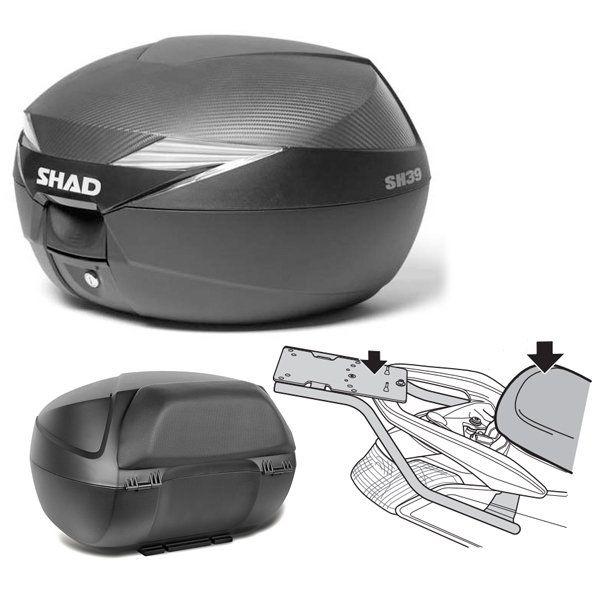 Baul Shad SH39 Yamaha Nmax con respaldo
