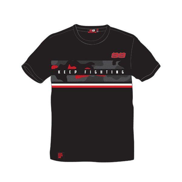 Camiseta Jorge Lorenzo Keep Fighting Negra