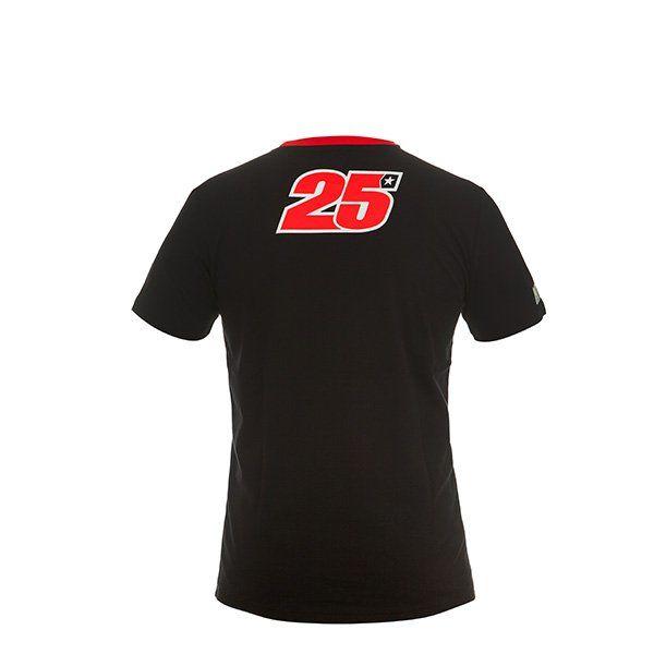 Camiseta Maverick Viñales Negro Rojo3