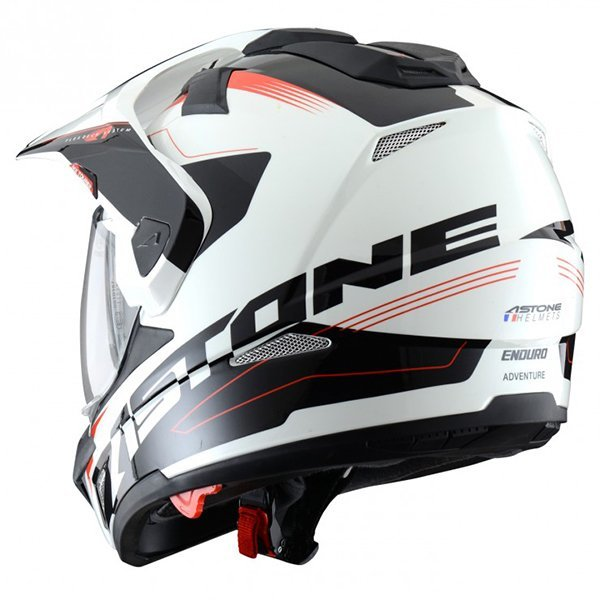 Casco Astone Cross Tourer Adventure Blanco Negro2