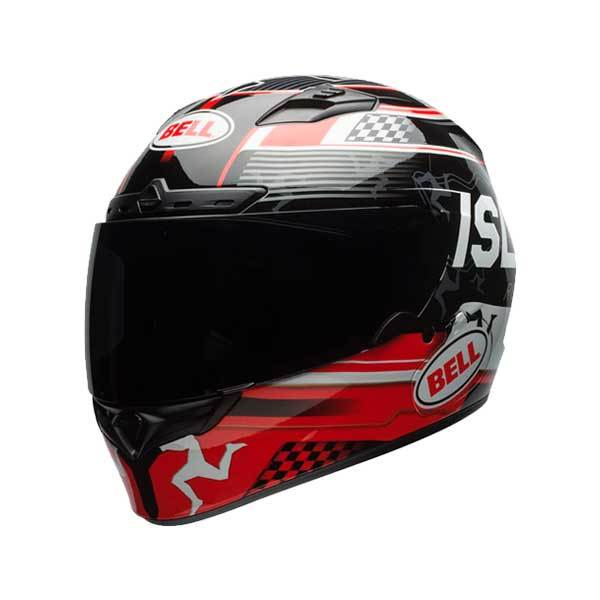 946d3652e74c7 Casco Bell Qualifier DLX Isle Of Man Negro Rojo