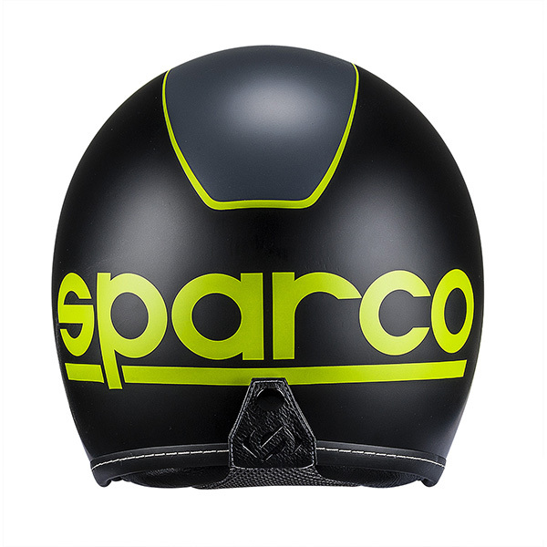 Casco Cafe Racer Sparco Cr-1 Negro Verde