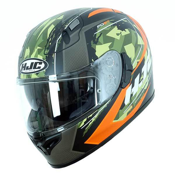 Casco HJC FG-ST Kume negro verde naranja
