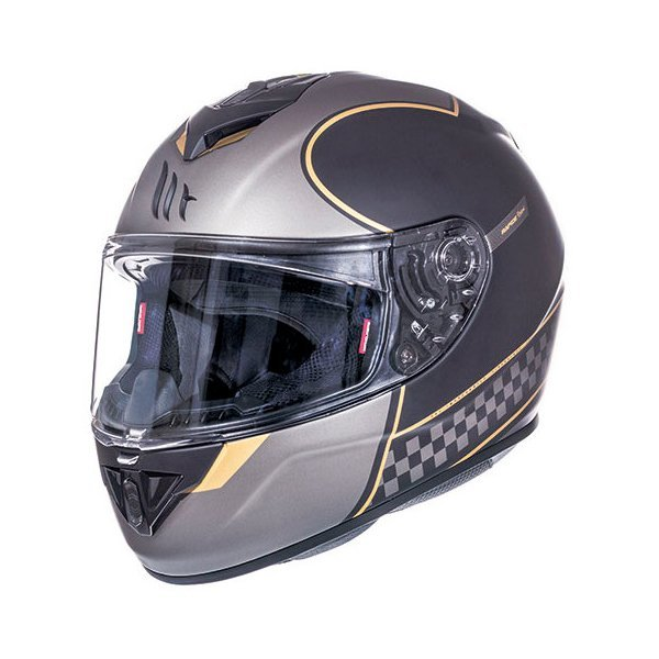 Casco MT Rapide Revival A1 negro mate