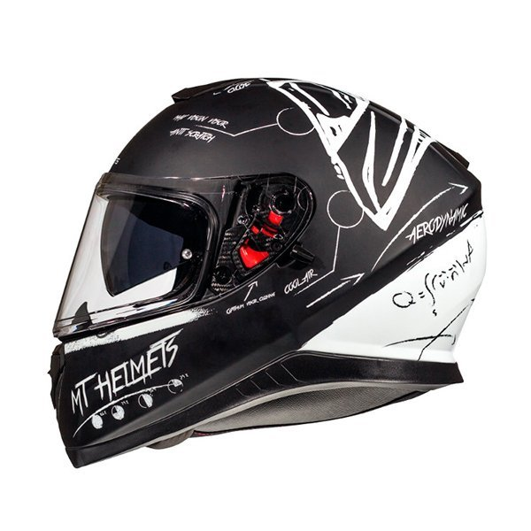 Casco MT Thunder 3 SV Board negro blanco