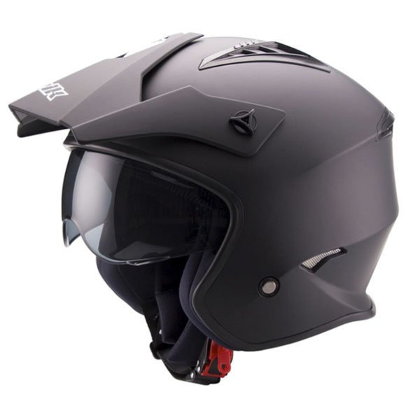 Helmet Unik Jet Trial Black Mate