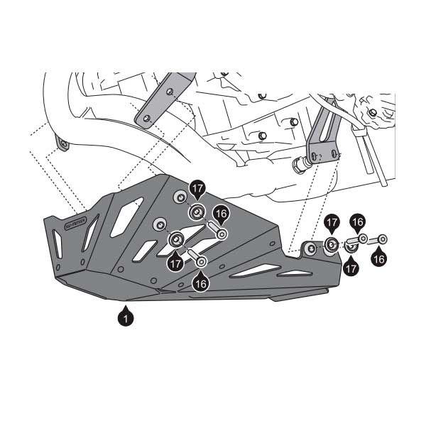 Cubrecarter SW Motech Versys 650 2007-2014