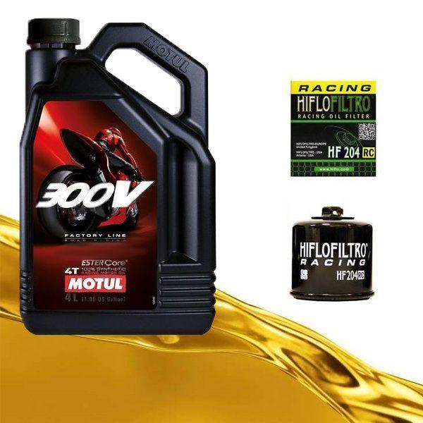 Pack Motul 300v y filtro de aceite HF204RC