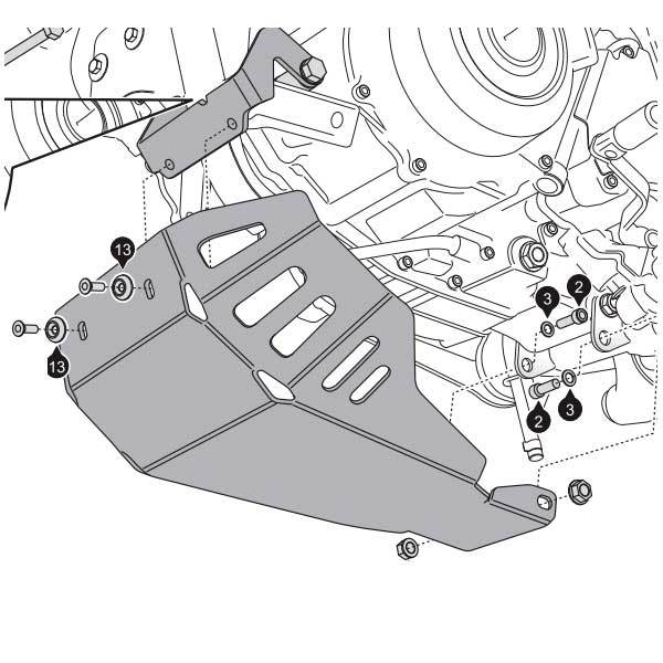 Quilla de aluminio SW Motech XT660Z