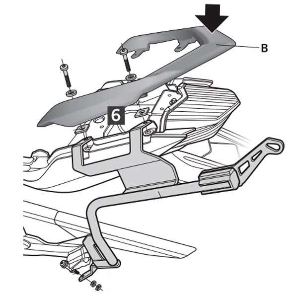 Soporte Maletas Shad para Yamaha XJ600 Y0XJ69IF