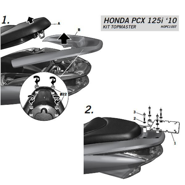 Soporte shad Honda PCX125i 10-18